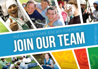 """Join Our Team"" postcard"